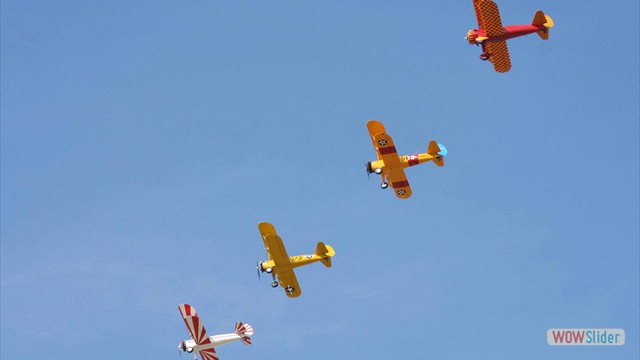 Stearman N54173 and Andreas Hotea flying in Formation-6